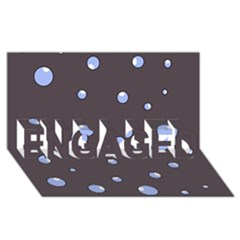 Blue Bubbles Engaged 3d Greeting Card (8x4)