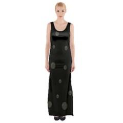 Gray Bubbles Maxi Thigh Split Dress by Valentinaart