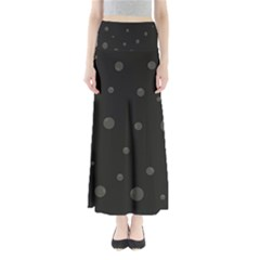 Gray Bubbles Maxi Skirts