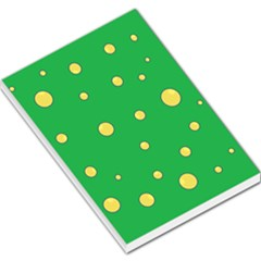 Yellow Bubbles Large Memo Pads by Valentinaart