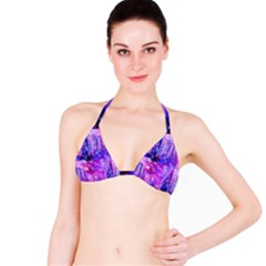 Purple Alcohol Ink Abstract Bikini Top by KirstenStar