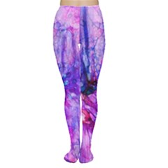 Purple Alcohol Ink Abstract Women s Tights by KirstenStar