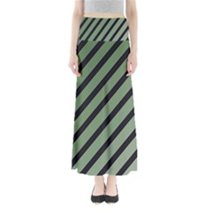 Green elegant lines Maxi Skirts by Valentinaart