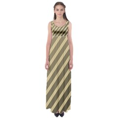 Golden Elegant Lines Empire Waist Maxi Dress by Valentinaart