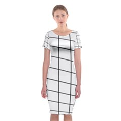Simple Lines Classic Short Sleeve Midi Dress by Valentinaart