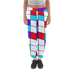 Colorful Cubes  Women s Jogger Sweatpants by Valentinaart