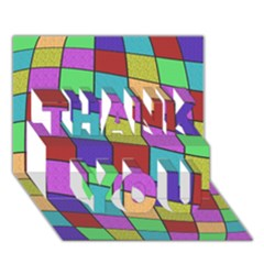 Colorful Cubes  Thank You 3d Greeting Card (7x5)  by Valentinaart