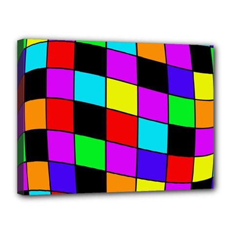 Colorful Cubes  Canvas 16  X 12  by Valentinaart