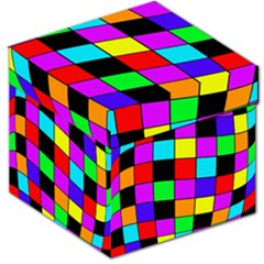 Colorful Cubes  Storage Stool 12   by Valentinaart