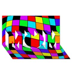Colorful Cubes  Mom 3d Greeting Card (8x4)  by Valentinaart