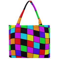 Colorful Cubes  Mini Tote Bag by Valentinaart
