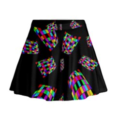 Colorful Abstraction Mini Flare Skirt by Valentinaart