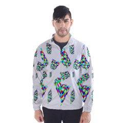 Colorful abstraction Wind Breaker (Men) by Valentinaart