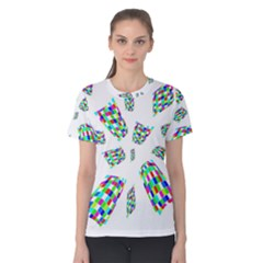 Colorful Abstraction Women s Cotton Tee by Valentinaart