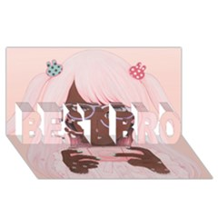Gamergirl 3 P Best Bro 3d Greeting Card (8x4)