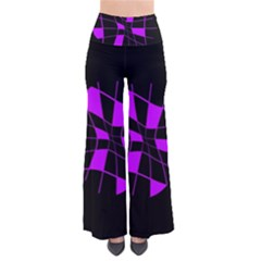 Purple Abstract Flower Pants by Valentinaart