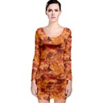 Bacon! Long Sleeve Bodycon Dress