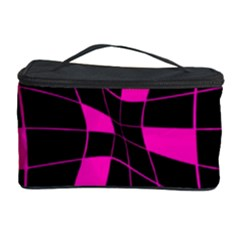 Pink Abstract Flower Cosmetic Storage Case by Valentinaart