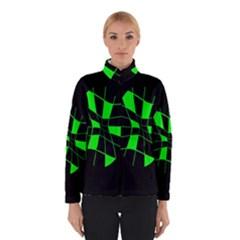 Green Abstract Flower Winterwear by Valentinaart