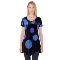 Blue Circles  Short Sleeve Tunic