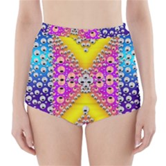 Music Tribute In The Sun Peace And Popart High-Waisted Bikini Bottoms by pepitasart