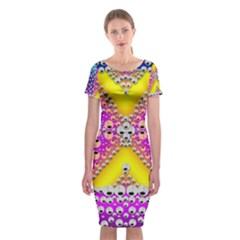 Music Tribute In The Sun Peace And Popart Classic Short Sleeve Midi Dress