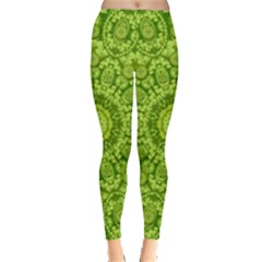 Magic Flowers In  The Deep Valley Of Paradise Leggings  by pepitasart
