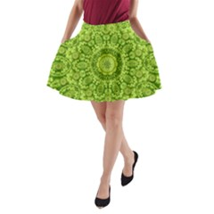 Magic Flowers In  The Deep Valley Of Paradise A Line Pocket Skirt by pepitasart