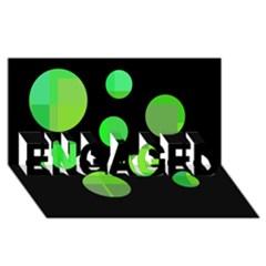 Green Circles Engaged 3d Greeting Card (8x4)