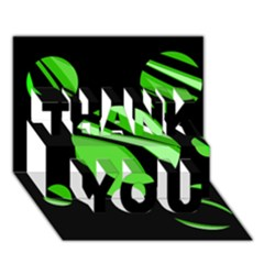 Green Balls   Thank You 3d Greeting Card (7x5)