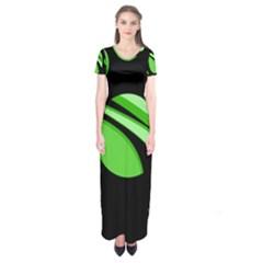 Green Balls   Short Sleeve Maxi Dress by Valentinaart