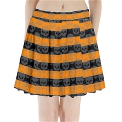 Deathrock Stripes Pleated Mini Mesh Skirt