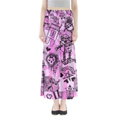 Pink Scene Kid Sketches Maxi Skirts