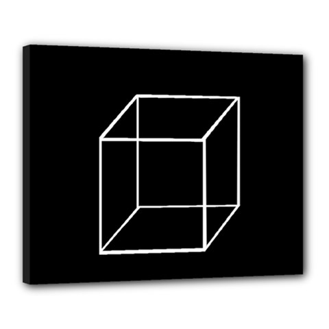 Simple Cube Canvas 20  X 16  by Valentinaart