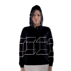 Simple Cube Hooded Wind Breaker (women) by Valentinaart