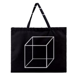Simple Cube Zipper Large Tote Bag by Valentinaart