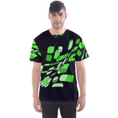 Green Decorative Abstraction Men s Sport Mesh Tee by Valentinaart