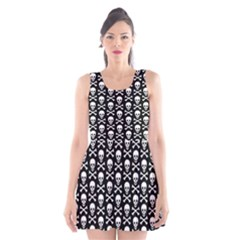 Skull and Crossbones Pattern Scoop Neck Skater Dress by ArtistRoseanneJones