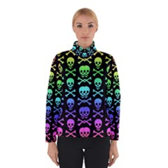 Rainbow Skull And Crossbones Pattern Winterwear by ArtistRoseanneJones