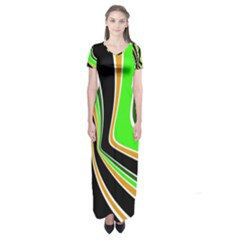 Colors Of 70 s Short Sleeve Maxi Dress by Valentinaart