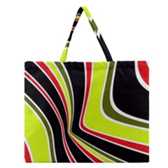 Colors Of 70 s Zipper Large Tote Bag by Valentinaart