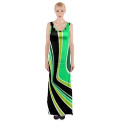 Colors Of 70 s Maxi Thigh Split Dress by Valentinaart