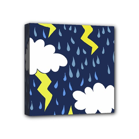 Thunderstorms Mini Canvas 4  X 4  by BubbSnugg