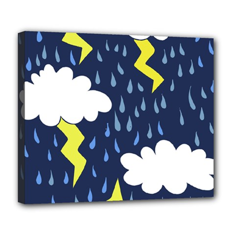 Thunderstorms Deluxe Canvas 24  X 20