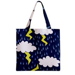 Thunderstorms Grocery Tote Bag