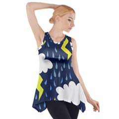 Thunderstorms Side Drop Tank Tunic