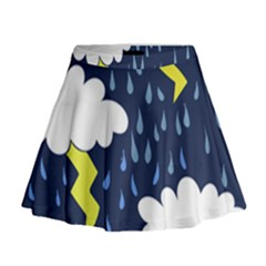 Thunderstorms Mini Flare Skirt by BubbSnugg