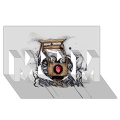 Guillotine Heart Mom 3d Greeting Card (8x4)