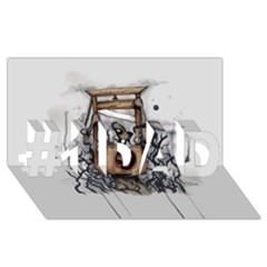 Guillotine Heart #1 Dad 3d Greeting Card (8x4)