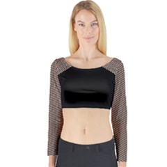 holes2_1 Long Sleeve Crop Top (Tight Fit) by Wanni